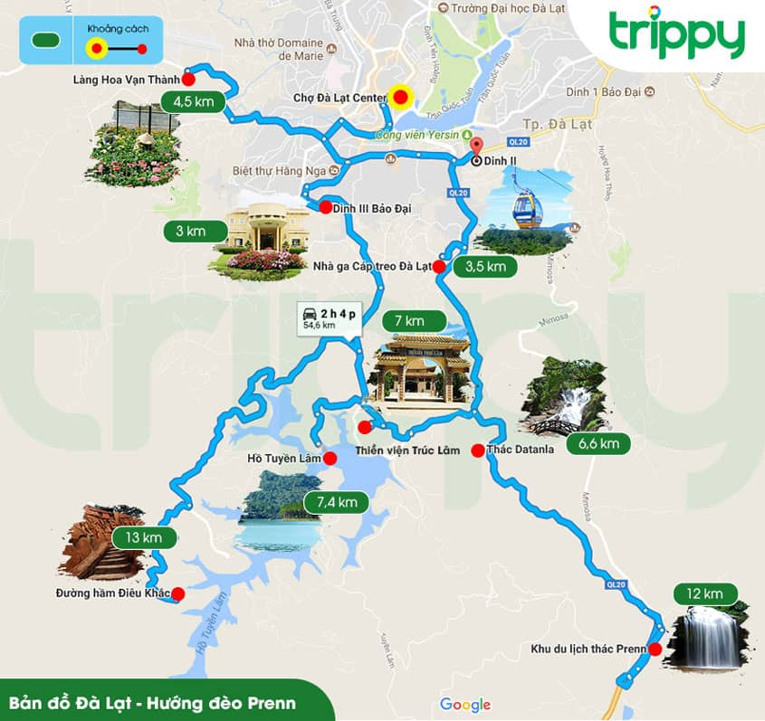 dalat travel map