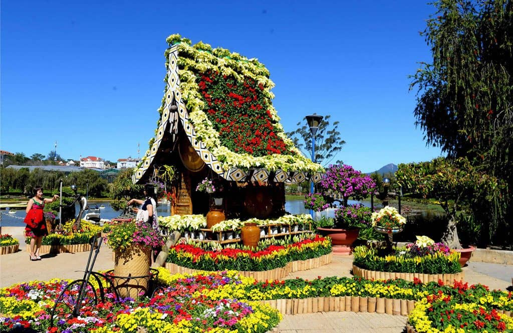 vườn hoa thành phố Đà Lạt